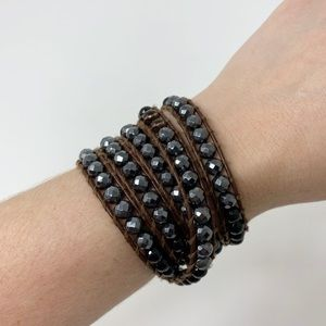 Chan Luu | Leather Wrap Bracelet Ombré Beaded